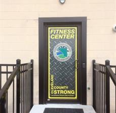 Cleveland County Fitness Door Graphic