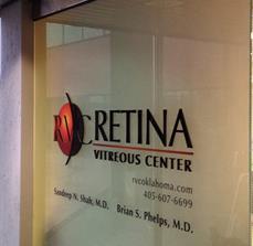 Retina Vitreous Center Dimensional Window Graphics