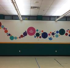 YMCA Interior Wall Graphics