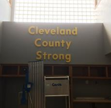 Cleveland County Dimensional 12'' Lettering
