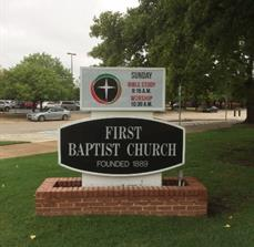 First Baptist Church Monument Sign Face
