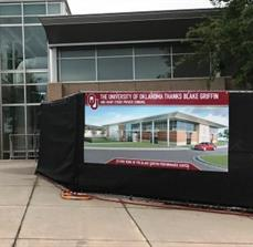 University of Oklahoma Athletic Department Temporary Sign