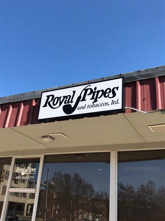 Royal Pipes Building Sign