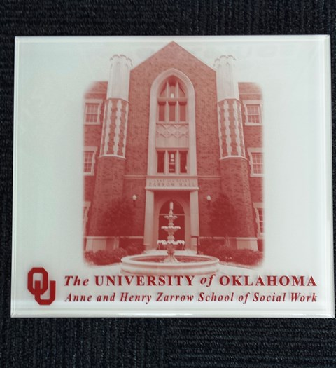 OU School of Social Work Acrylic Interior Plaque