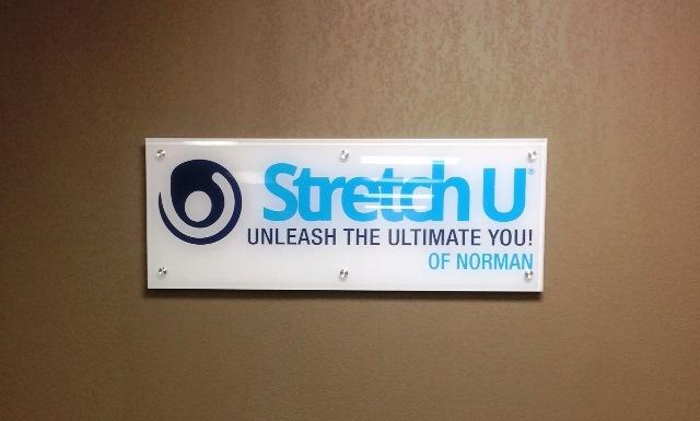 Stretch U Acrylic Wall Sign