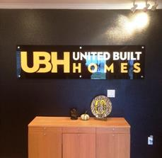 United Built Homes Acrylic Dimensional Sign