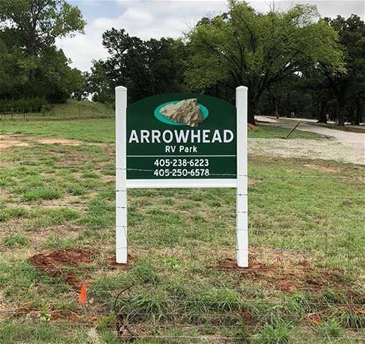 Arrowhead RV Park Post & Panel Sign