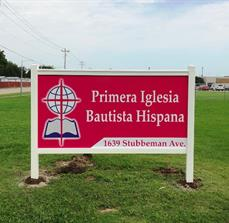 Church Post and Panel Site Sign