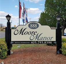 Moore Manor Apartments Post & Panel Sign