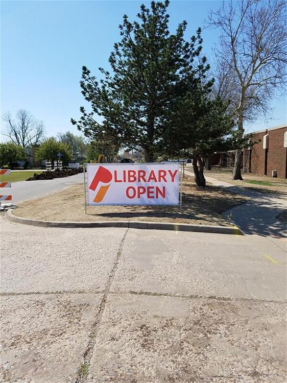 Moore Public Library Sign