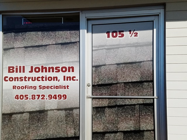 Bill Johnson Construction Window Graphics