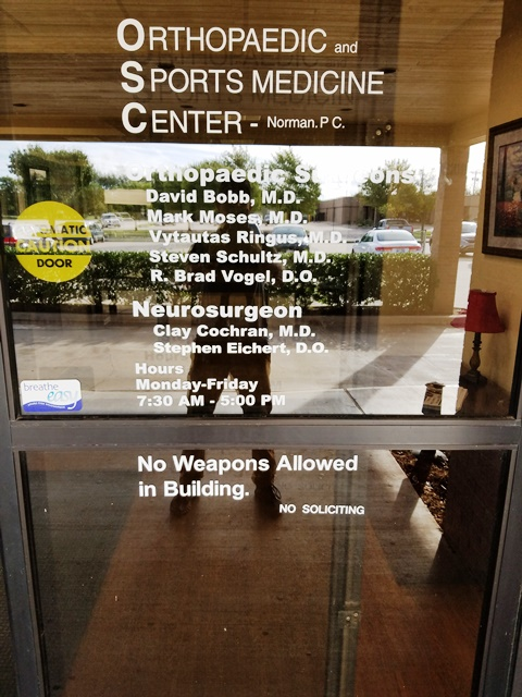 Orthopedic & Sports Medicine Center Door Graphics
