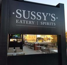 Sussy's Eatery & Spirits Exterior Wall Graphic