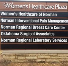 Women's Healthcare Plaza Monument Sign