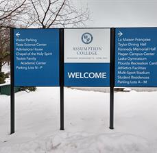 Welcome to Assumption Post and Panel Sign