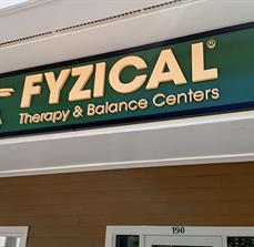 Exterior Building Sign with Dimensional Graphics