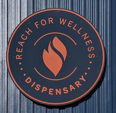 Reach For Wellness Dispensary Building Sign