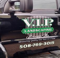 Custom Landscaping Truck Lettering