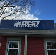 Best Cleaners Building Sign