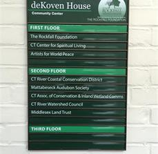 The Rockfall Foundation deKoven House Community Center Wayfinding