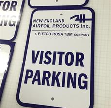 Parking Lot Regulatory Signs
