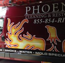 Phoenix Cleaning & Restoration Vehicle Wrap