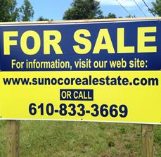 Sunoco Real Estate Yard Sign
