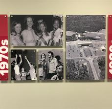 University of Mobile Timeline Acrylic sign