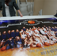 Banner for Basketball Team Gymnasium
