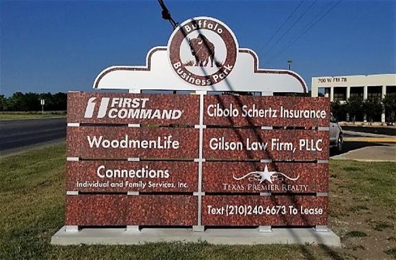 Buffalo Business Park Monument Sign