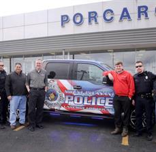 Mount Pleasant Police Department Cop House - Truck Wrap