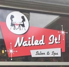 Window Graphics for Nailed It Salon & Spa