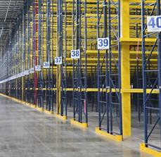 Distribution Center Aisle Markers