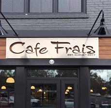 Cafe Frais Exterior Building Sign