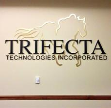 Custom Internal Sign and Decor for Trifecta Technologies Incorporated