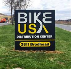 BIKE USA's Distribution Center Monument Sign