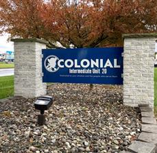 Custom Monument Sign for Colonial Intermediate Unit 20