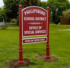Monument Sign for Phillipsburg School District