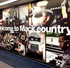 Wall Graphic Display for Mack Trucks Inc.