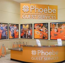 Phoebe Guest Services Signs and Graphics - PPL Center