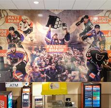 Custom Inside Vinyl Wall Graphic for the PPL Center in Allentown, PA
