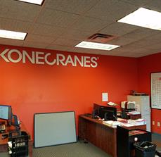 Kone Cranes Entrance Wall Decal