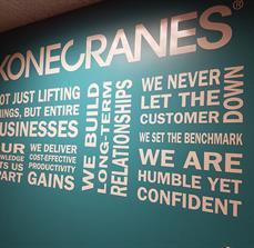 Kone Cranes Office Wall Graphics