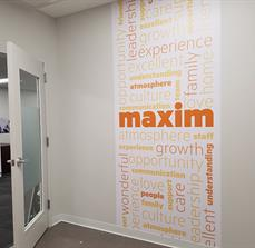 Maxim Healthcare Continuous Wall Graphic