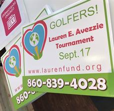 Lauren E. Avezzi Golf Tournament Yard Signs