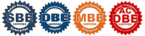 Logos for SBE, DBE, MBE, ACDBE