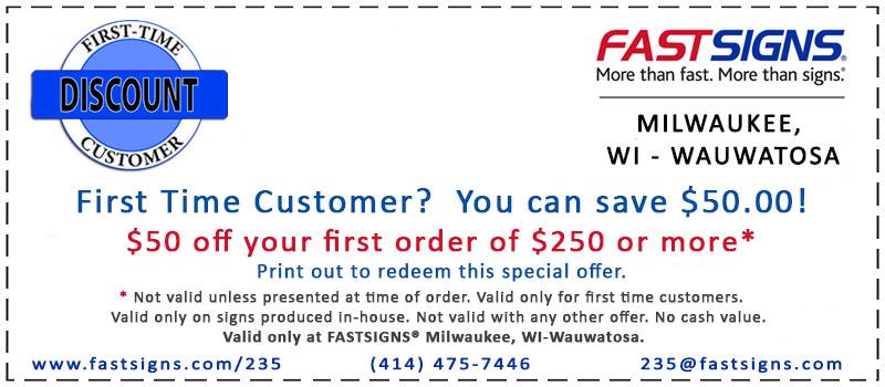 new customer coupon