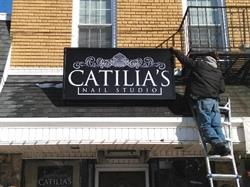 Catilia's Nail Salon Illuminated Lightbox