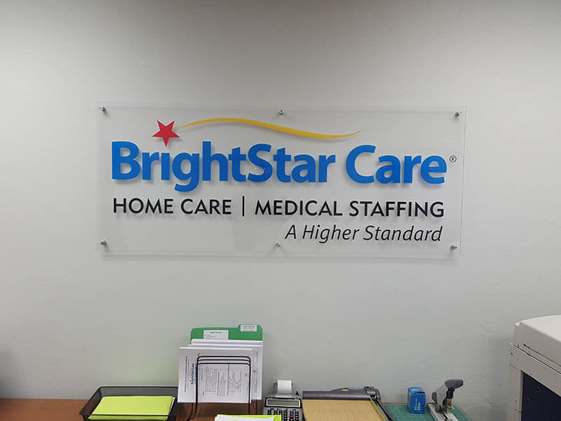 BrightStar Care Wall Sign
