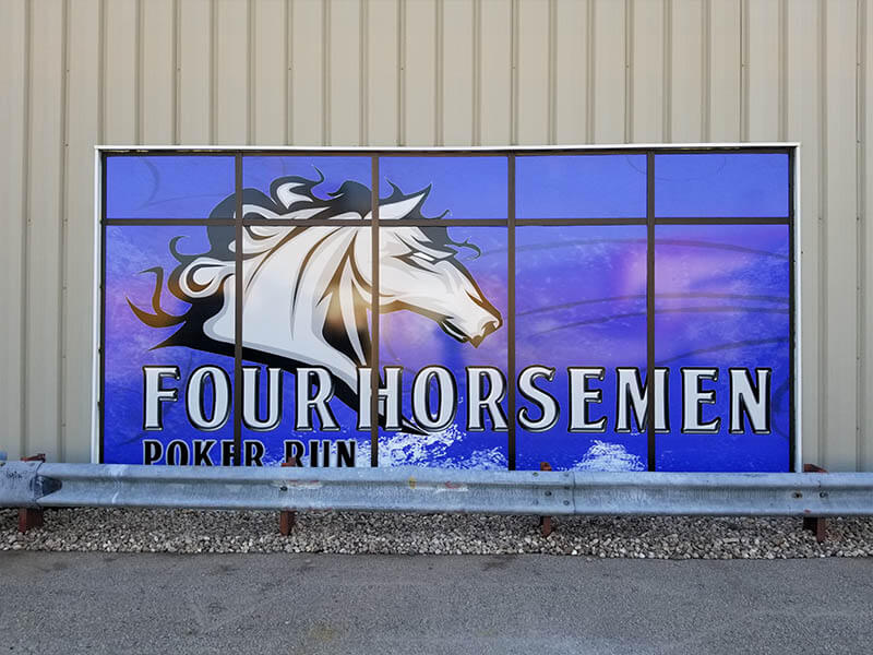 Four Horsemen Window Vinyl